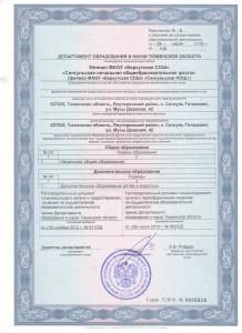 Приложение к лицензии № 6